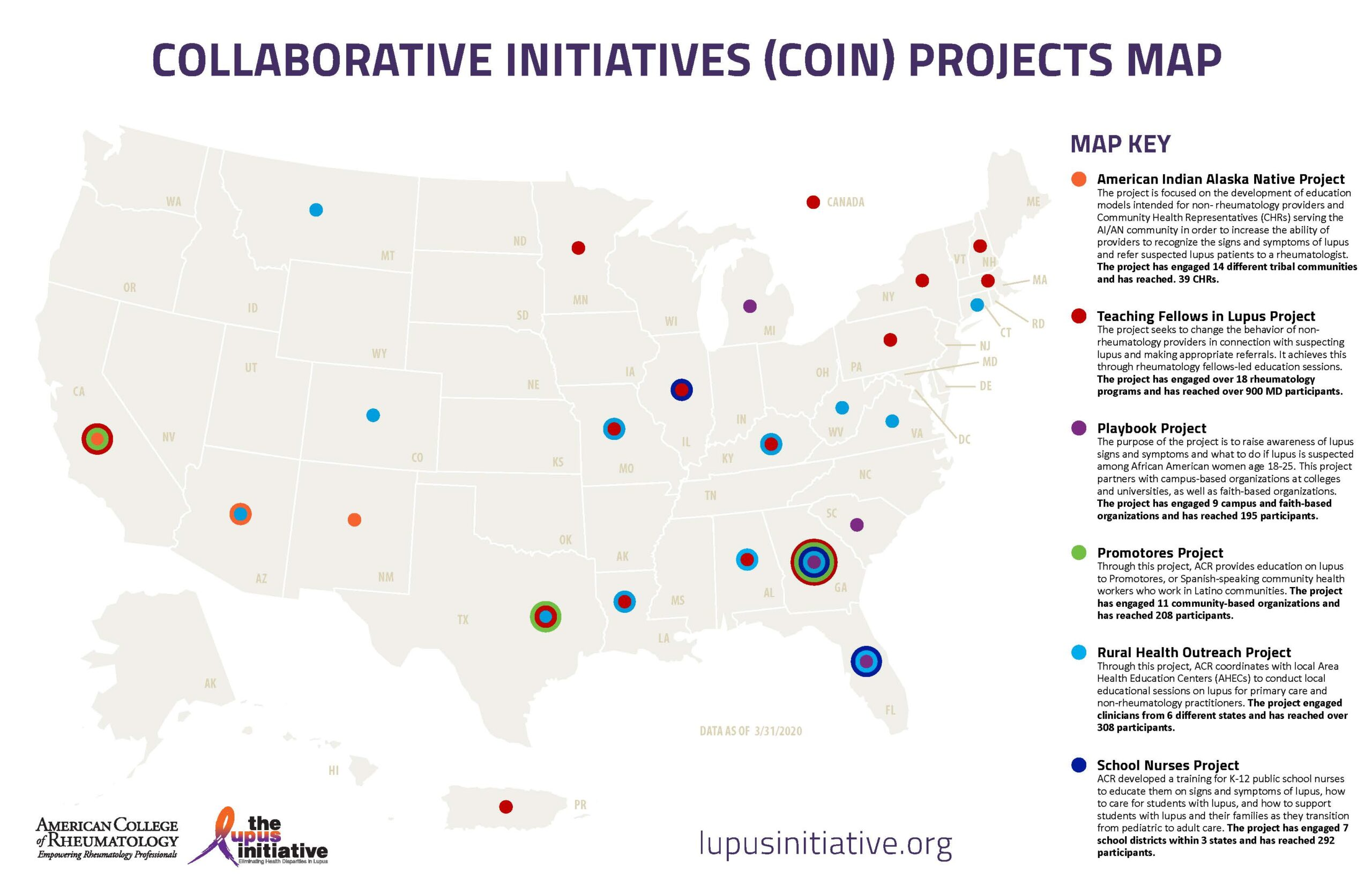 ACR COIN CDC Project Map Image
