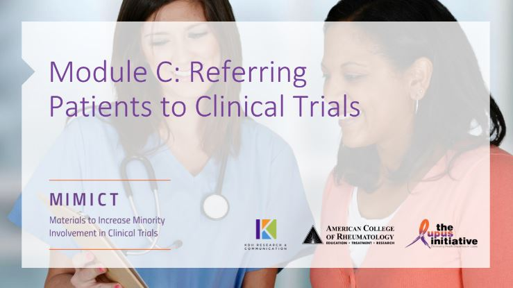 Module C: Referring Patients to Clinical Trials