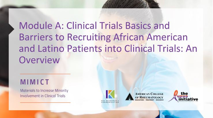 Module A: Clinical Trials Basics and Barriers to ...