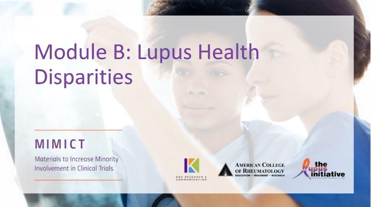 Module B: Lupus Health Disparities